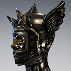 Wings horns bronze
