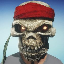 FREE Pirate Skull Mask (Male)