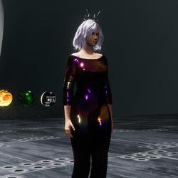 cosmic foil jumpsuit