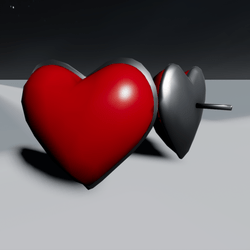 Red Heart Earrings F