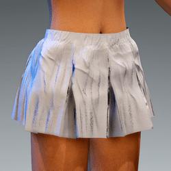 Folded Schort Skirt Wite