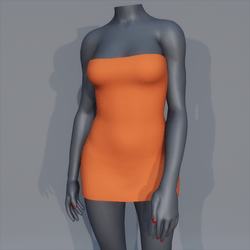 Very Short Sexy Mini Dress - Pumpkin