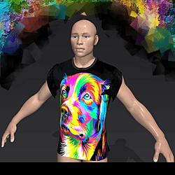 Dog Art Man