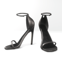 Ankle strap sandals  for Nicci - glitter grey