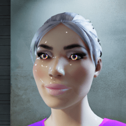 Female go-GLOW Pride Animated Eyes