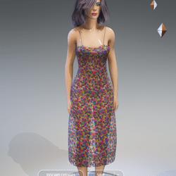 Female - Spring-Summer Floral Dress AV2.0(more transparency)