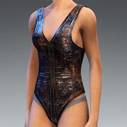 Swimsuit Dark Sci-Fy Pilot Body