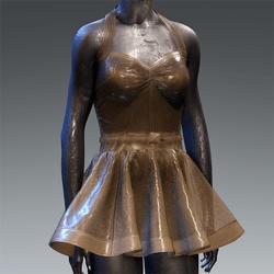 Latex Rubber Dress Short Brown Translucent