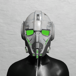 TKA Helmet Scifi Green Emissive & UV Animation ( Women )
