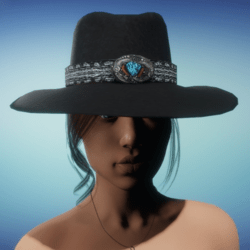 COWGIRL HAT - Black