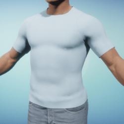 Light Blue Men's T-Shirt