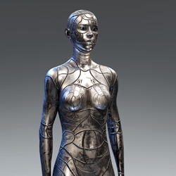Cyber Synth Android Body Cobalt