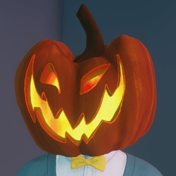 FREE Animated Pumpkin Head (Male)