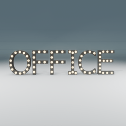 Office Marquee Blinking Sign
