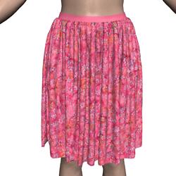 Marvelous Skirt with pink floral batik texture