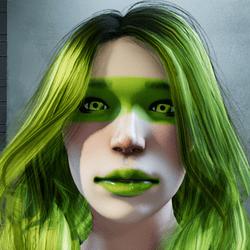 Neo lime makeup