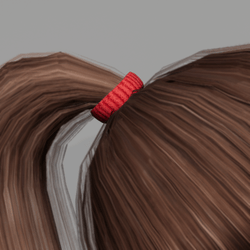 Elastic for Pony Tail - Red