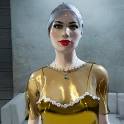 Chiffon Top for Diamonds & Gold Dress