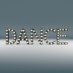 Dance Marquee Blinking Sign