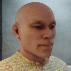 Male head with subsurface scattering