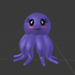 Kawaii Octopus Shoulder Pet