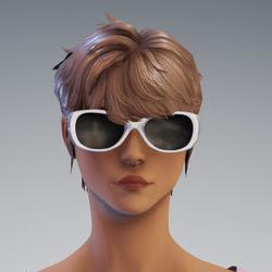 Sunni Glasses AV2 white - no reflextion glass