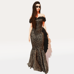 1940's gown ~ Onyx