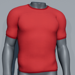 Men Plain TeeShirt - Red