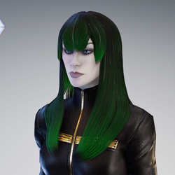PM - Female Hair 01 - Green Color