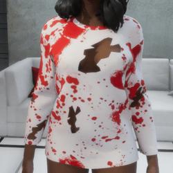 Female MissMMD Pastel Bloody Top