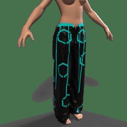 Raver Pants Female - Teal