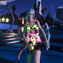 Neon Animated Dance Dress