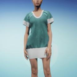 Bibi dress Glacier and White