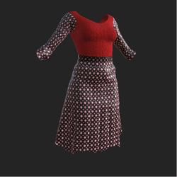 Red Polkedot Skirt Outfit
