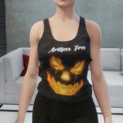 jack o lantern  sleeveless