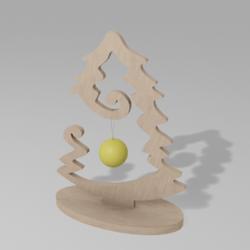Christmas Tree Wood Mini