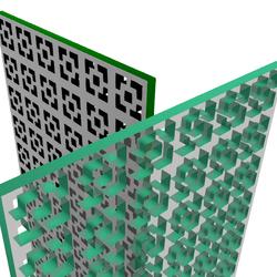 OX Pattern Wall