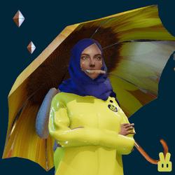 umbrella - sunflower