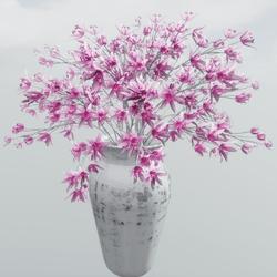 Pink Flower + Vase