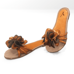 Flower sandals for alina - orange