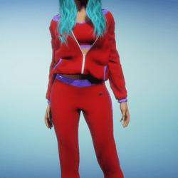 Red n Blue Jogging Suit