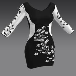 Slim Dress with Flower by ACpixl
