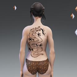 Avatar with Dragon Tattoo