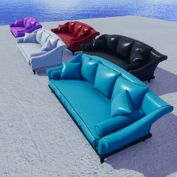 DESIGNED LEATHER SOFAS - 5 COLORS