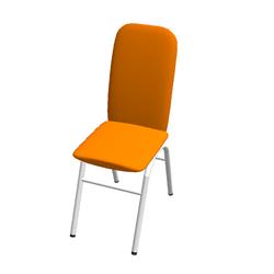 Oranger Stuhl