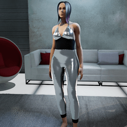 Jumpsuit metallic silver