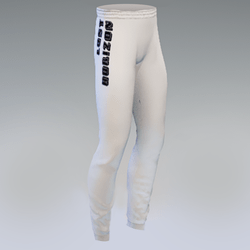 Unisex Lost Horizons White Joggers