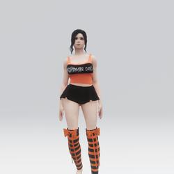 Nightmare Doll Halloween Outfit (Orange & Black)
