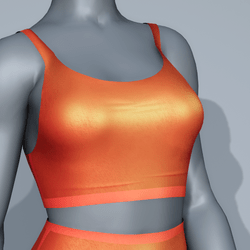 Sport Bra - Orange Sunset