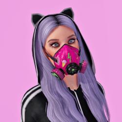 Gas Mask Respirator Pink